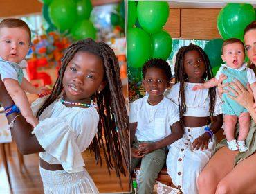 Titi faz 'carão' em foto de família e internet vai à loucura com a pinta de modelo da garota