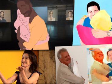 O abraço é o grande protagonista da vinheta de fim de ano da Globo gravada à distância. Play pra ver o making of!