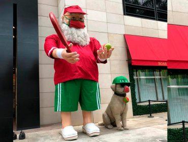 Papai Noel do Iguatemi São Paulo surge em clima de verão e se despede de 2020
