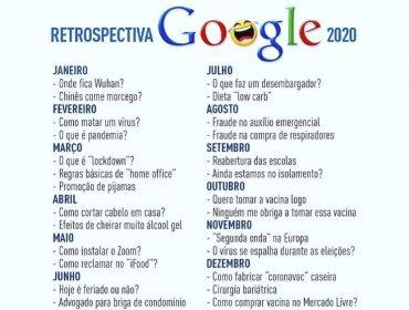 Retrospectiva 2020 fake do Google bomba na internet com calendário realista. Oi?