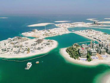 Visão aérea do complexo turístico e residencial inspirado no velho continente