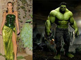 Look exclusivíssimo de Kim Kardashian gera comparações com Hulk e outros personagens na web. Concorda?
