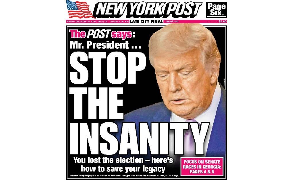 A capa do jornal nessa segunda-feira
