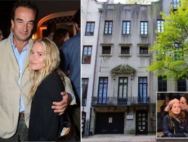 Olivier Sarkory e Mary-Kate Olsen, e o antigo endereço deles em NY