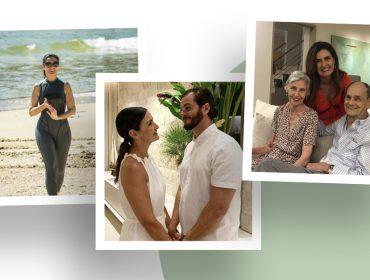 """Fátima Bernardes volta às telinhas depois de licença médica e entrega álbum de fotos com momentos em família: """"Energias renovadas"""""""