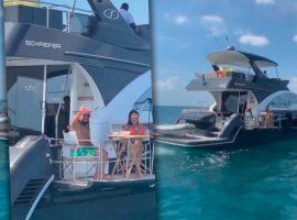 Bell Marques é flagrado em passeio romântico na Baía de Todos os Santos a bordo de sua lancha de mais de R$ 7 milhões