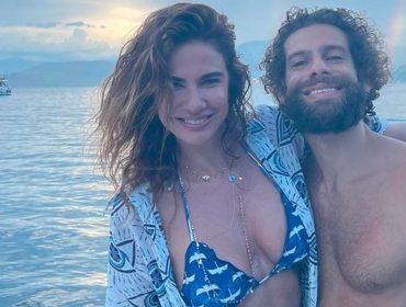 Luciana Gimenez e namorado curtem fim de semana de puro romance em alto mar
