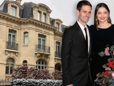 Evan Spiegel e Miranda Kerr: ao fundo, o novo endereço deles em Paris