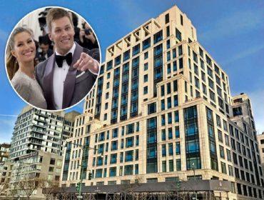O edifício 70 Vestry de NY, onde fica o apê vendido por Gisele e Tom (no detalhe)