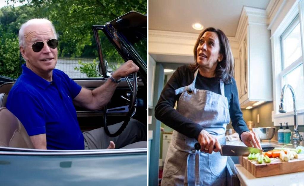 Ele ama dirigir e ela ama cozinhar