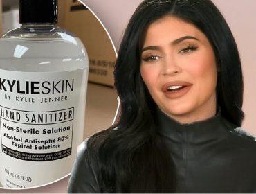 Kylie Jenner é acusada de tentar lucrar com a pandemia por causa de higienizador de mãos recém-lançado por sua marca