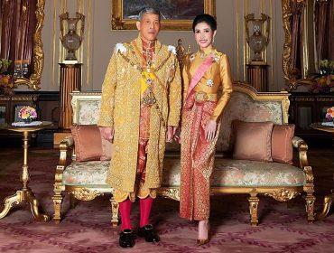 """O rei rei Maha Vajiralongkorn e a """"segunda rainha"""" Sineenat Wongvajirapakdi"""