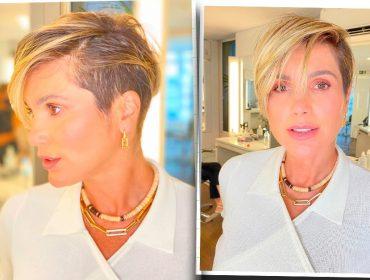 """Flávia Alessandra mostra o passo a passo do seu novo 'pixie hair': """"Tava morrendo de vontade de fazer"""""""