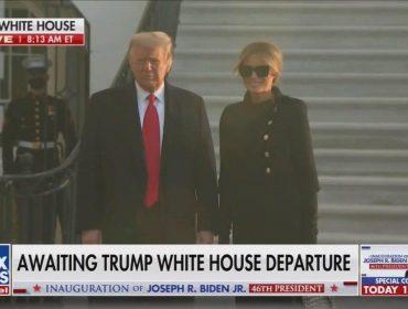 Conhecida por aparecer sempre de cara fechada e mal humorada, Melania Trump deixa Casa Branca sorrindo