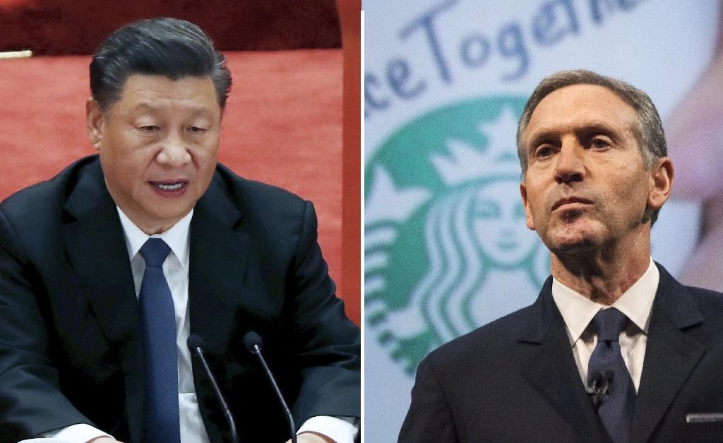 Xi Jinping e Howard Schultz