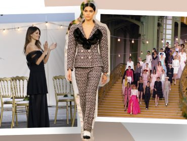 Modelo brasileira Raynara Negrine faz sua estreia internacional sob os olhares de Penélope Cruz e Marion Cotillard