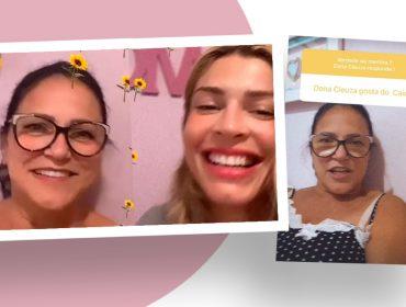Grazi Massafera chama a mãe para responder fãs no Instagram e ela dá seu veredito sobre Caio Castro. Confira!