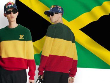 """Louis Vuitton comete gafe ao errar as cores da bandeira da Jamaica em suéter de R$ 7 mil: """"Ninguém pesquisou no Google?"""""""