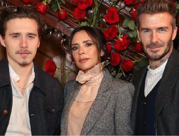 Cruz Beckham com os pais, Victoria e David Beckham