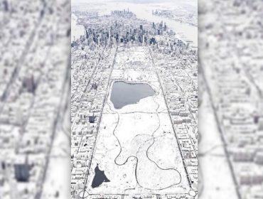 Madonna posta foto impressionante de Nova York debaixo de neve. Rolou até snowball fight por lá