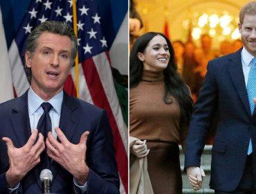 Meghan e Harry tiveram reunião virtual secreta com o governador da Califórnia em outubro. Aos fatos!