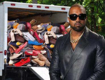 Kanye West manda caminhão buscar sua coleção de 500 pares de tênis na casa que dividia com Kim Kardashian