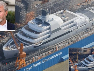 Novo iate de Roman Abramovich, que tem 140 metros e custou mais de R$ 3 bilhões, está quase pronto