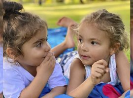 """Ivete Sangalo se declara para as filhas, Marina e Helena, no aniversário das gêmeas: """"Cada respiro é conectado a vocês"""""""