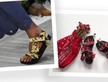 Desejo do Dia: as sandálias da Arizona Love feitas com bandana vintage estão chegando ao Brasil