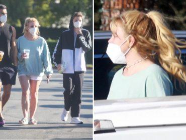 Britney Spears com o namorado e o filho em LA