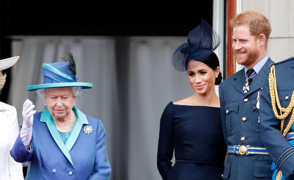 Elizabeth II, Meghan Markle e Harry