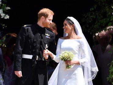Harry e Meghan Markle depois de seu casamento