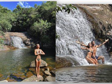Mariana Goldfarb, Cauã Reymond e a natureza intocada no final de semana 'good vibes' do casal