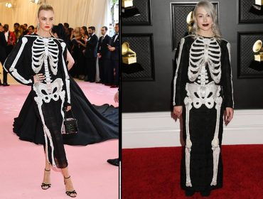 Batalha de looks! Phoebe Bridgers ressurge com vestido esqueleto usado por Carol Trentini em 2019
