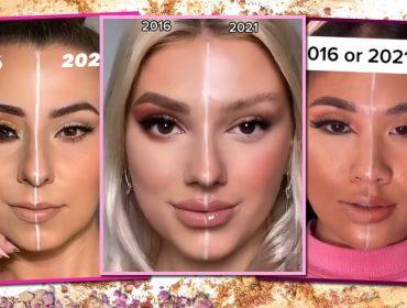 2016 X 2021: mudança no jeito de se maquiar vira febre do momento no Tik Tok