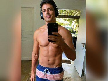 Cauã Reymond adota o perfil de 'muso fitness' na pandemia e explica os benefícios do banho de gelo para acalmar corpo e mente