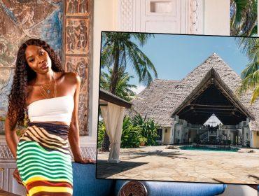 Naomi Campbell abre as portas de seu refúgio secreto em praia remota no Quênia. Vem fazer um tour!