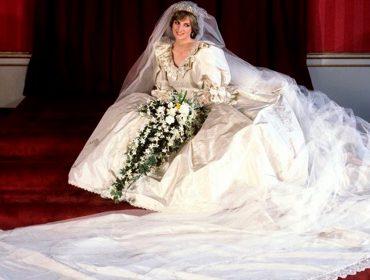Icônico vestido de noiva de Lady Di, guardado a sete chaves pelos filhos, será exposto ao público em Londres