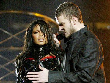 Janet Jackson e Justin Timberlake no Super Bowl de 2004