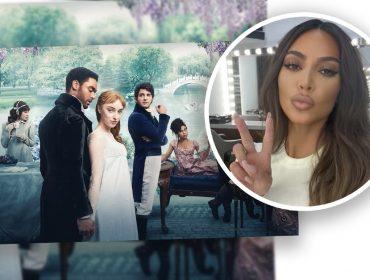 """Fanzona de """"Bridgerton"""", Kim Kardashian troca mensagens com Lady W e descobre que sua família foi inspiração de personagens da série. Oi?"""