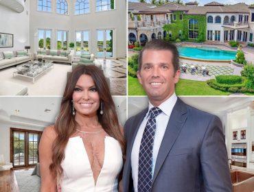 O casal Kimberly Guilfoyle e Donald Trump Jr. e seu novo lar na Flórida