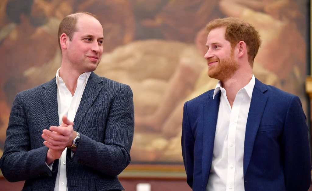 Os príncipes William e Harry