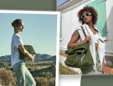 Couro de cacto é a estrela da coleção cápsula da marca Karl Lagerfeld com a modelo Amber Valletta