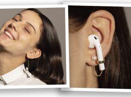 Desejo do Dia: brincos de Delfina Delettrez que evitam a perda dos fones de ouvido sem fio