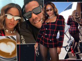 """Beyoncé e Jay-Z comemoraram 13 anos de casados com rasante na """"cidade do pecado"""""""