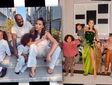 Fim da era Kardashian West: Kim muda o visual dos filhos depois da separação do rapper conhecido por ser monocromático