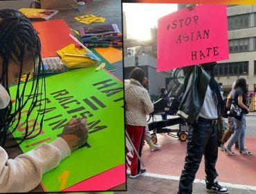 Sempre engajada, Rihanna participa da manifestação 'Stop Asian Hate' em NYC e surpreende fãs. Vem ver!