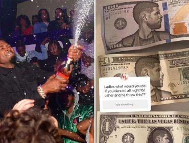 Usher e as notas 'fake' com o rosto dele estampado