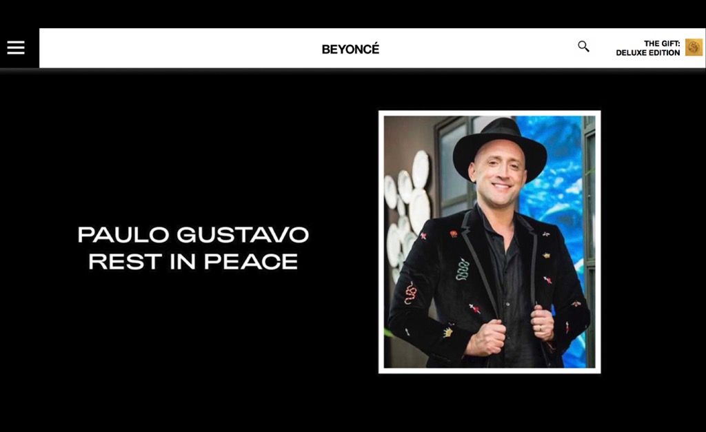 Morte de Paulo Gustavo comove o mundo com homenagens de amigos brasileiros  e até de Beyoncé, de quem ele sempre foi muito fã – Notas – Glamurama