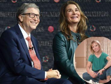 Bill e Melinda Gates e, no detalhe, Ann Winblad
